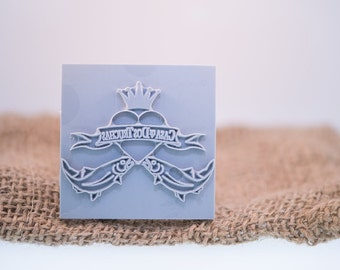 """Custom Stamp 51 X 51mm / 2"""" X 2"""" For PMC, Art Clay, Metal Clays, Polymer Clay, Fimo."""