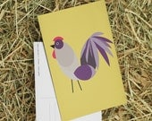 Easter gift  postcard with rooster