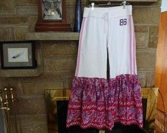Upcycled PINK Victorias Secret Sweat Pants size Women's Medium