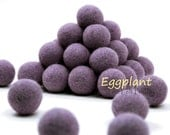 Garland DIY Felt Balls // Felt Poms // Felt Beads // DIY Mobile // dyi Necklace // EGGPLANT // 1 cm 1.5 cm 2 cm 2.5 cm 3 cm 4 cm