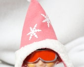 Pink Sleigh Riding Hat and Goggles for Christmas Elf