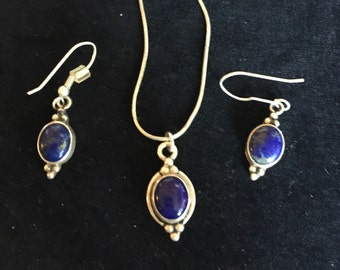 Lapis necklace & earing set