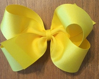 """Girl's Boutique Hair Bows, toddler girl hair bows, baby, ribbons, 5"""" hair bows, 5 inch hairbows, alligator clips, french barrette"""
