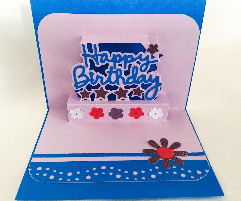 3 D Handmade Cards: Birthday Pop Up Card Unique Birthday