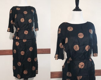 Vintage Leslie Fay Peplum Dress