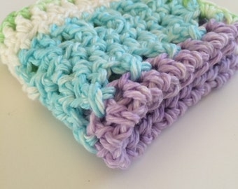 Crochet Washcloth 100% Cotton