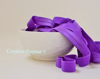 5/8 Fold Over Elastic- Purple Elastic-