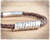 Mens Bracelet • Mens Gift • Personalized Bracelet • Mens Anniversary Gift • Groomsman Gift