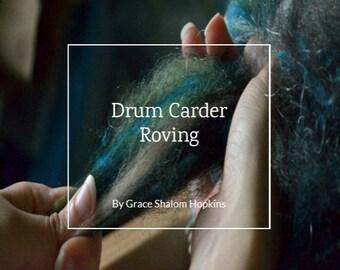Roving From A Drum Carder - Drum Carding (Art Batt and Smooth Batt) Tutorial - Handpulled Roving Tutorial