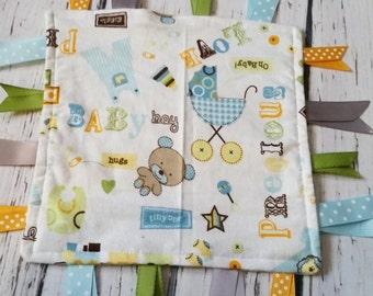 Baby Boy Tag Blanket