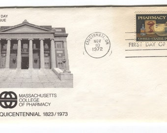 1972 First Day of Issue\Cover Pharmacy Postage Stamp