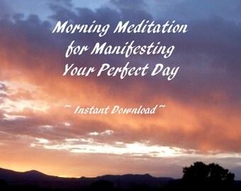 Inspirational Morning Meditation, Manifestation Guided Meditation,  Guided by Voices Guided Imagery for Abundance, Instant Download