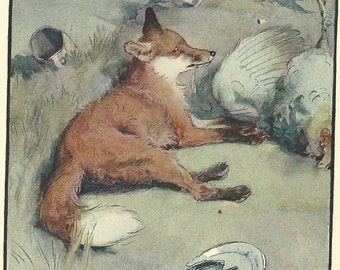 Fox Artwork, Fox Wall Art Print, Fox Animal Wall Art, CECIL ALDIN Original, 1910's Print, Fox Art Prints, Antique Fox Print, Fox Print