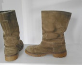 Original Vintage 60's suede Boots Inuit style