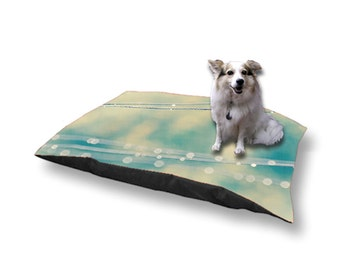 Pet Bed Dog Bed Raindrops on Clothesline 18x28 30x40