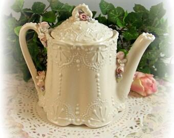 Victorian Lace Teapot
