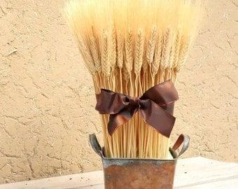 Rustic Fall Arrangement, Dried Floral Arrangement, Thanksgiving Decor, Modern Home Decor, Rustic Home Decor, Wheat Sheaf, Rustic Centerpiece