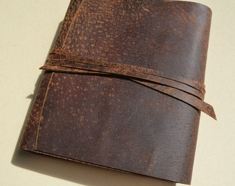 Distressed Pigskin Leather Bound Journal Custom-Made-to-Order Adventure Diary Notebook (541B)
