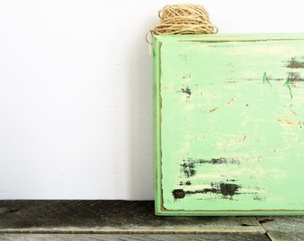 Upcycled Storage Box - Mint Green and Robins Egg Blue - Memory Box - Tea Box