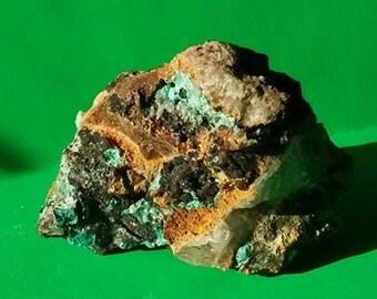 Nano Aquarium Decoration Mini Rock Rare Malachite and Azurite raw Stone #MALNANO