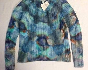 Funky Tie Dye Ladies Sweater size large W123
