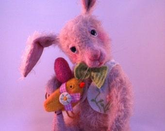 Paashaas Benjamin, Cupcakebears, mohair bunny, naald vilten, kunstenaar beren, verzamelaars beren,
