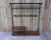 Clothing rack, garment rack, reclaimed wood, store fixture, clothes rack, clothing storage, made to order