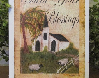 Count Your Blessings Birthday Card - FREE SHIPPING
