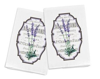 100% Egyptian Cotton Flour Sack Kitchen Dish Towel Lavender (one towel)