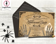 Gothic Invitation   Adult Halloween Party   Ouija Board Invitation   Halloween Party Invitation - CALLING ALL SPIRITS   Printable