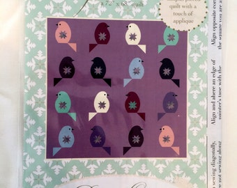 FEATHERS quilt pattern by Dreamy Quilts - 72x68 pattern 003 - simple, pieced with some appliqué