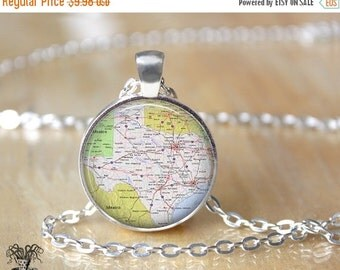 Texas Necklace - State Necklace - Texas Jewelry - State Jewelry L102