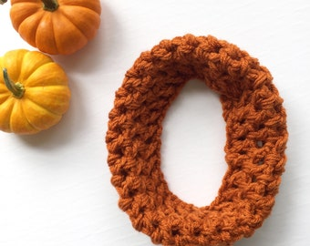 Girls Orange Scarf - Toddler Orange Scarf - Girls Fall Outfit -  Toddler Cowl - Baby Scarf - Baby Infinity Scarf - Toddler Infinity Scarf