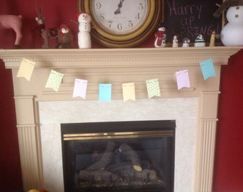 Custom paper flag bunting banners for parties,weddings, etc.