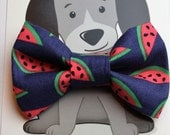 Dog Bowtie, Cat Bow Tie, Collar Accessory, Cat Costume, Pet Bowtie, Gift for Cat, Handmade, Watermelon, Summer, Fruit, Dog Clothing