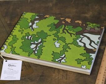 """A4 Sketchbook """"Woods"""", Artist Sketchbook with Dotted, Black, Coloured Paper"""