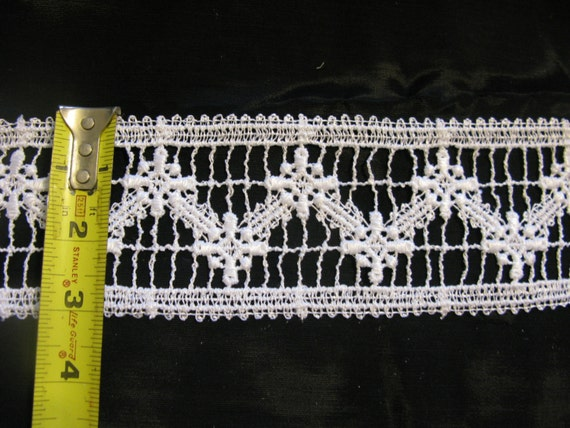 White Lace Trim, Insertion Trim Lace Edging Per Yard 3 inches Wide