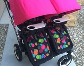 2 custome stroller liners for donkey, city mini dbl, bob duallie, bumbleride twin,mountain buggy duet, b agile dbl, city select