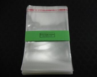 100 Pcs - Clear Resealable Cellophane Bags 10cm wide x 15cm long CB003