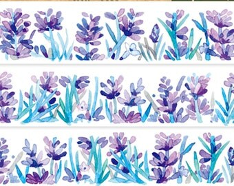 1 Roll of Limited Edition Washi Tape: Lavender