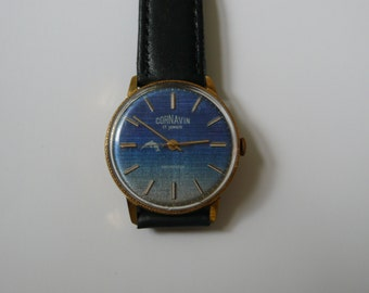 """Swiss  Rare """"CORNAVIN""""  GOLD plated wrist watch   1960-1970 VERY Perfect condition"""