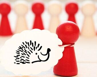 Rubber stamp - Hedgehog - approx. 20 mm ø