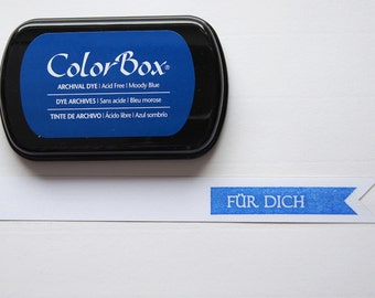 Blue ink stamp pads archival ink ColorBox