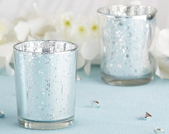 Silver Votive Candle Holders, Silver Wedding Favors, Silver Wedding Decorations, Silver Decorations