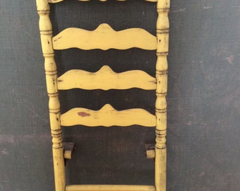 Antique Ladder Chair Back Rack