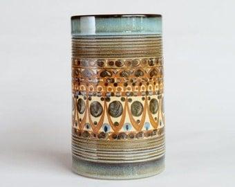 Denby Minaret Vase Designed by David Yorath / Painted by Audrey Cole Parker, Made in England