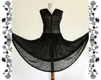 1930's Vintage Chantilly Dress
