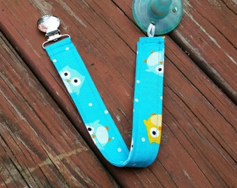 Pacifier Clip Universal Binky Clip Soothie Clip Owls