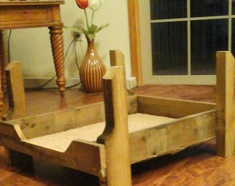 Repurposed  wood Pet bed