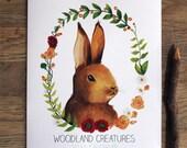 Calendar Sale 20% Off - Woodland Creatures 2016 Calendar